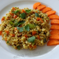 Speedy steel-cut oats upma (savory snack with vegetables)