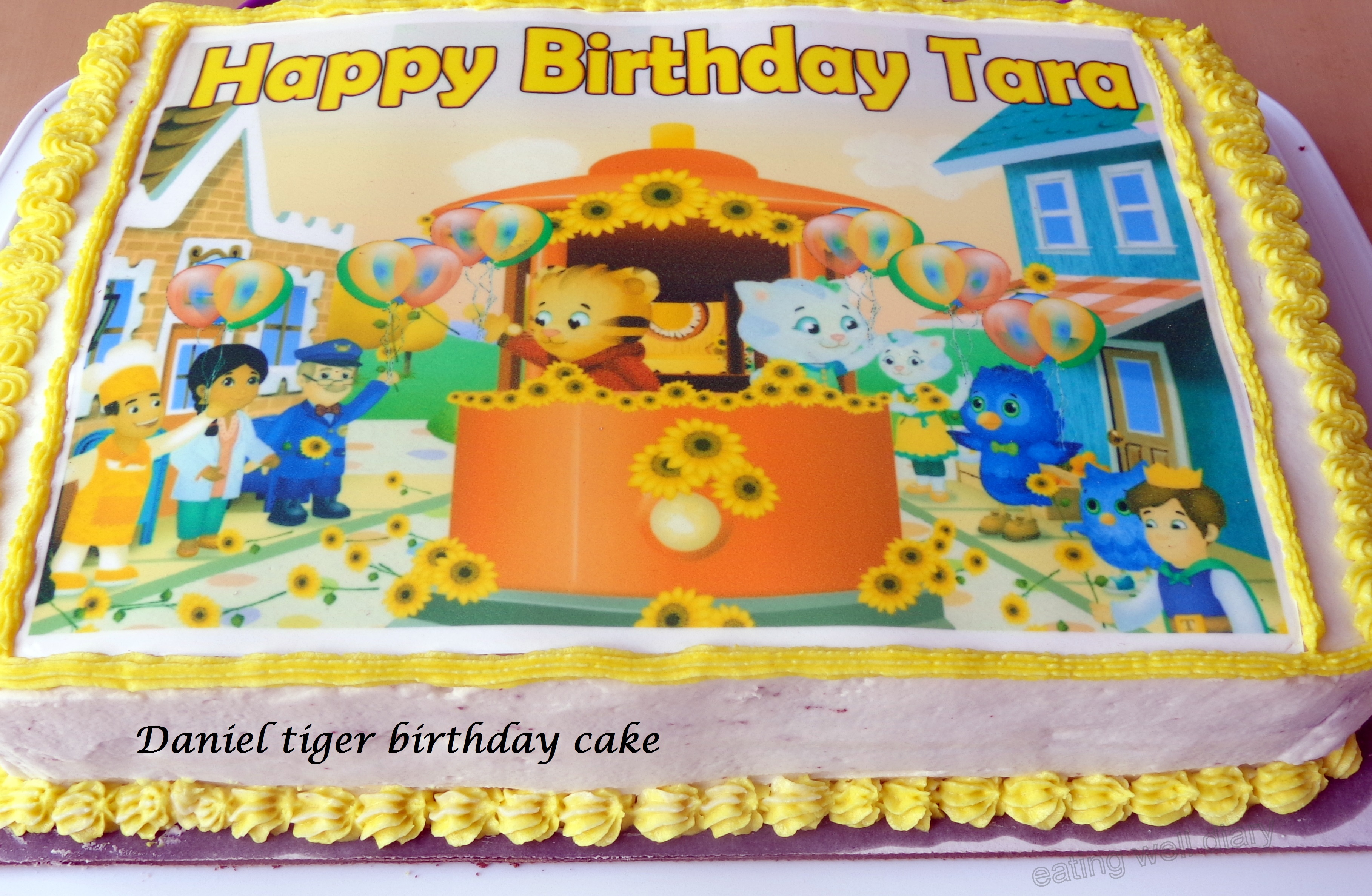 Daniel Tiger Themed Chocolate Birthday Cake And Cupcakes