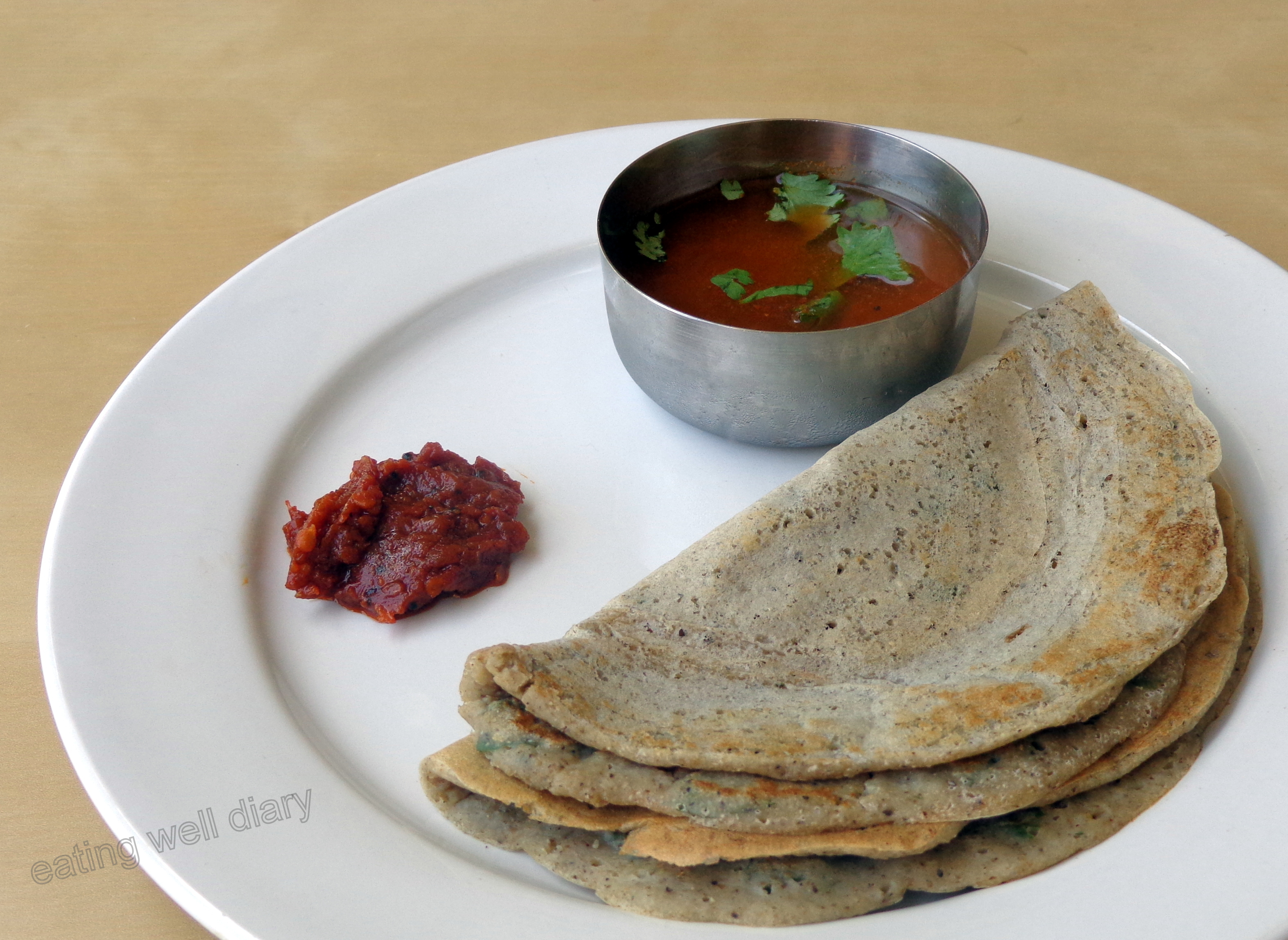 Sprouted Bajra Finger Millet Dosa Pancakes Gluten Free