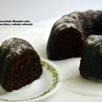 Super-moist Chocolate Bundt cake (egg-free, butter-free, whole-wheat)