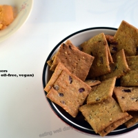 Healthy Festive Baked Crackers (gluten-free, oil-free, vegan)
